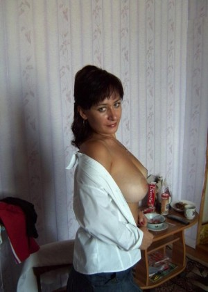 Beautiful russian woman naked on the bed