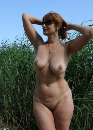 Russian Milf Galina in the forest
