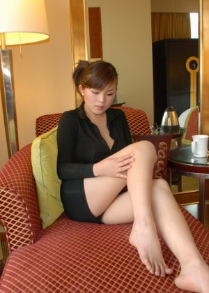 Busty asian in the hotel room