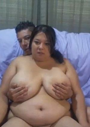 A fat latina and lover who licks her ass