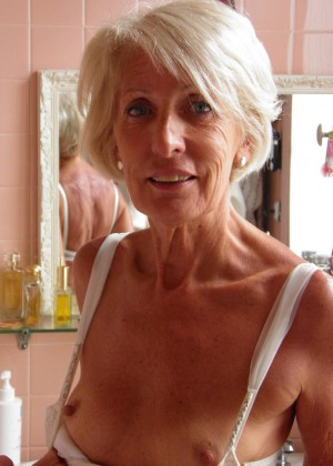 Elegant naked old Frenchwoman