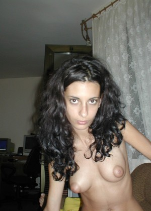Porn photos of a slender Italian Julia