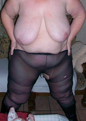 Fat woman from Belgium in pantyhose