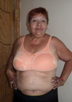 Mature fat Mexican woman showing breasts