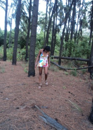 Sex with Latina woman in the woods