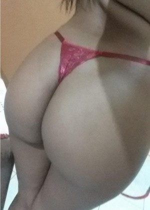 Naked ass and tits of a dark-skinned girl from Brazil