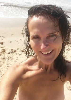 Australian milf on the beach and during pregnancy