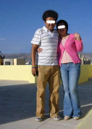 Sex on the roof with a Peruvian woman