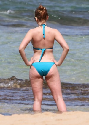 Scarlett Johansson on the beach