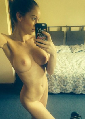 Laura Carter bared her breasts