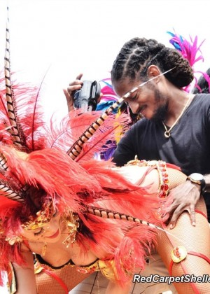 Rihanna at the festival in Barbados