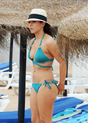 Roxanne Pallett sunbathing topless