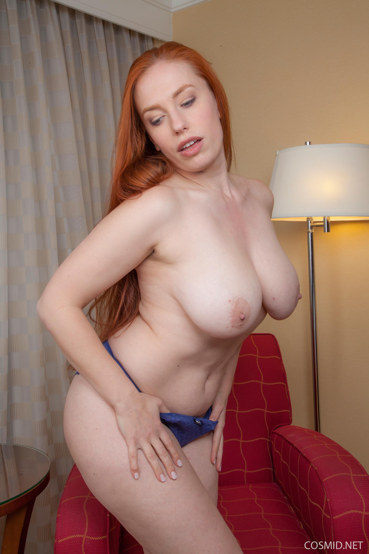Redhead busty