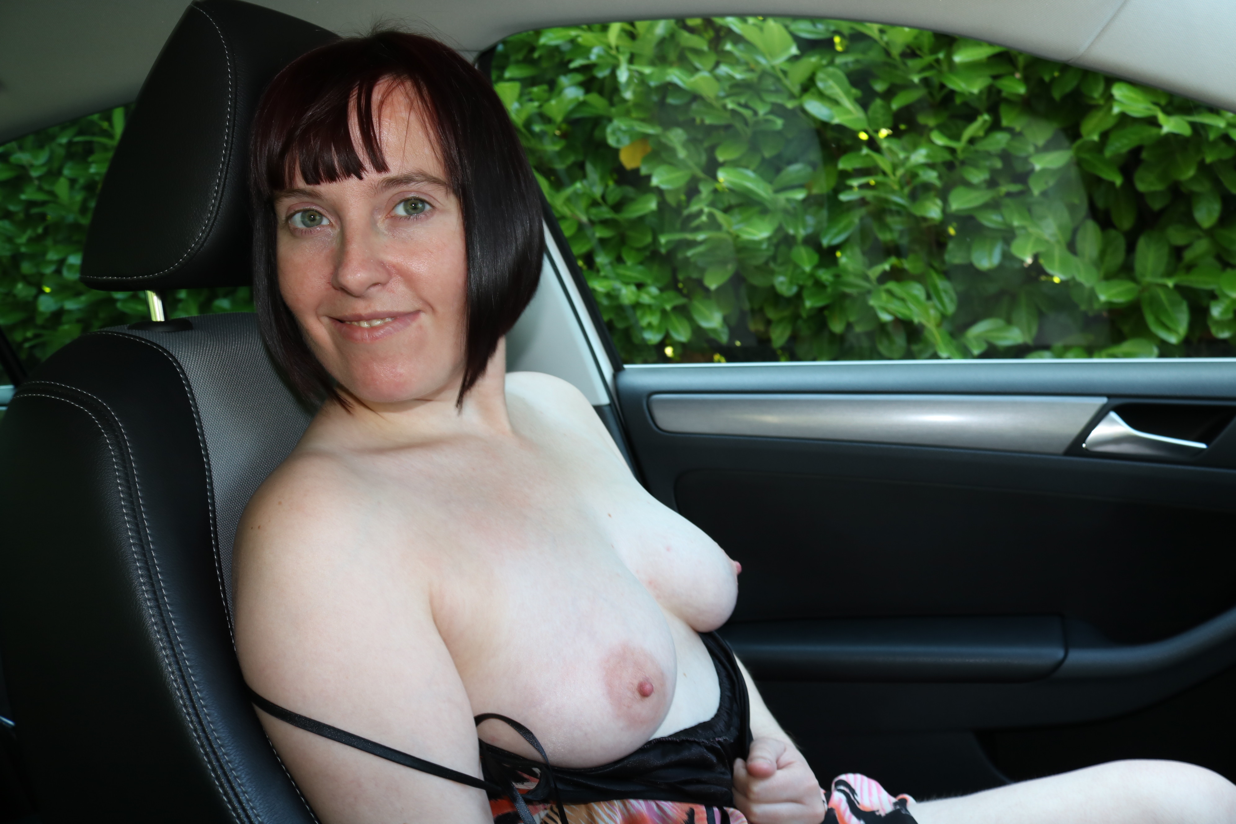 Mature British flashing nude body in the car » 100% ...