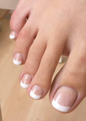 Pedicure of different Frenchwomen
